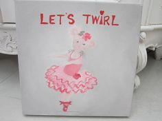 Let's Twirl original painting oil painting mouse
