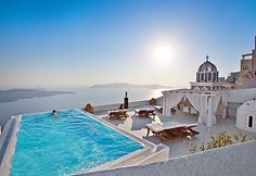 GREECE CHANNEL | View from the pool in Santorini, Greece by Ed Hetherington Photography