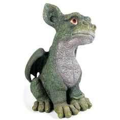 @Overstock.com - Kelkay Coy Green Dragon Sculpture - Kelkay collectable dragons are magical creatures from the Dragons Den. Designed for indoor and outdoor use and made from durable resin-stone, this Coy Dragon will look great around the home and garden.  http://www.overstock.com/Home-Garden/Kelkay-Coy-Green-Dragon-Sculpture/7884163/product.html?CID=214117 $45.72