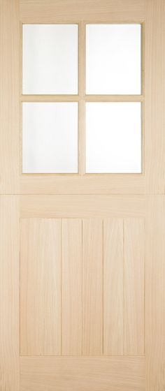 A traditional Oak Stable Door which allows the bottom half to be left closed while the top opens. External Oak Doors, House Proud, Stables, Outdoor Spaces, Indoor, Outdoor Living Spaces, Interior, Horse Stables, Run In Shed
