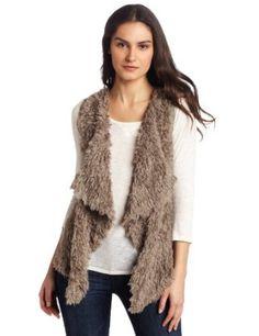 Kensie Women's Shaggy Faux Fur Vest $68.00
