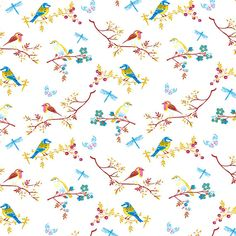 Dolls House  Wallpaper 1/12th or 1/24th scale Quality Paper Birds Dollhouse  Miniature#11