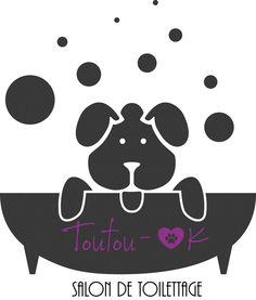 Création de logo pour Toutou OK. Toutou OK est un salon de toilettage situé en région liégeoise, à Saint-Nicolas.