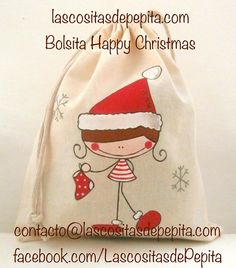 Little things of Pepita: Covers primer pediátrico Christmas Candy, Christmas Treats, Christmas Decorations, Xmas, Candy Bags, Christmas Inspiration, Fabric Painting, Cute Designs, Art Projects