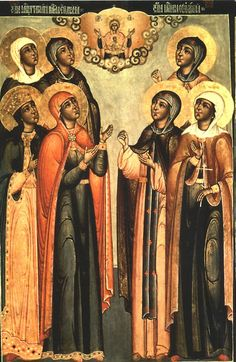Saint Martha, mother of Saint Simeon of Wonderful Mountain Religious Icons, Religious Art, Religious Paintings, African American History, Native American Indians, Saint Martha, Black Jesus, Mystery Of History, Black History Facts