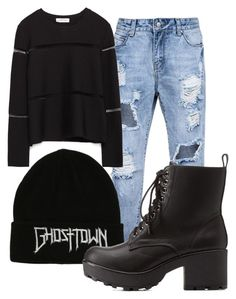 """""""Ghosttown"""" by melissa-boucher-i on Polyvore featuring Charlotte Russe and Zara"""