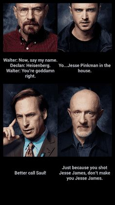 """You can easily write or record the name from Breaking Bad scenes:<br>WW: Say my name<br>Jesse: Yo ... in the house<br>Saul: Better call...<br>Mike: Just because you shot...<p>If your TTS doesn't work, update TTS and restart phone. :-)<p>Walter White, Jesse Pinkman, Saul Goodman, Michael """"Mike"""" Ehrmantraut, Heisenberg<p>App using best settings for voice recording and could use 2 microphones. And also TTS (Text To Speech). App Supports every language you have in your smartphone. I recommend to…"""