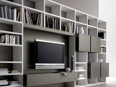 bedroom wall unit tv - Google Search