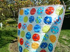 s.o.t.a.k handmade: circle time quilt featuring Don't be Crabby fabric by Laurie Wisbrun