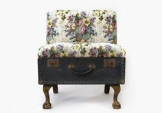 upholstered suitcase