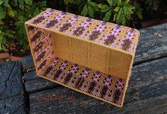 Macrame, Basket ,Big, Weaving basket,Rectangular shape,Handmade, Birch Pale Pink and Brown colors,Storage , Decorative ,Gift. by CraftingMode on Etsy