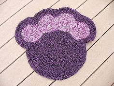 Purple Crocheted Pet Mat  FREE COASTER by ACCrochet on Etsy, $24.00