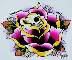 Heart Flower Tattoo, Flower Tattoos, Trippy Painting, Skulls, Tatting, Journaling, Piercings, Illustration Art, Doodles