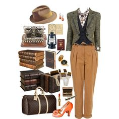 Indiana Jones 1930's Archaeologist by lilbailey on Polyvore featuring Juicy Couture, McQ by Alexander McQueen, Louis Vuitton, La Mer, POLICE, Yves Saint Laurent, Parker, Toast, 7 For All Mankind and Passport