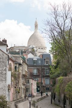 Paris Photography, Sacre Couer in Montmartre, soft blue and grey tones, Paris, France, French Wall Decor, Parisian Architecture by rebeccaplotnick on Etsy