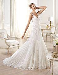 9b76044fd0d3 Pronovias   Pronovias vous présente la robe de mariée Onija. Costura 2014.  Dentelle,