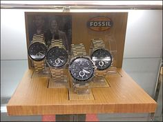 Fossil Plug-in Wood Watch Bases Aux Wood Plugs, Wrist Watches, Visual Merchandising, Wood Watch, Fossil, Hooks, Base, Natural, Design