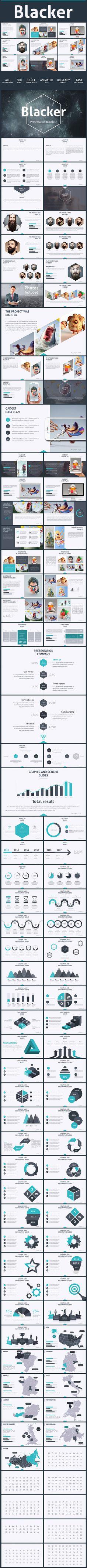 Blacker creative presentation - Creative PowerPoint Templates