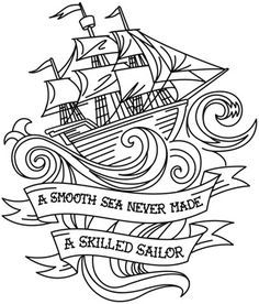 Skilled Sailor design (UTH6221) from UrbanThreads.com