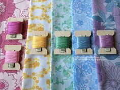 Vintage Sheet Inspired thread palette by gotthebutton, via Flickr