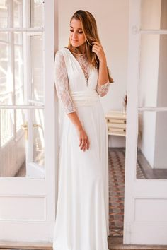 b655789d42 Long sleeve lace wedding dress long sleeve wedding dress ready made wedding  dress with sleeves lace. VestidosVestido ...