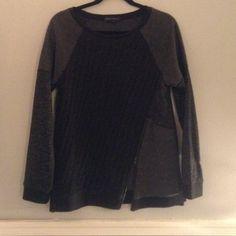 Sanctuary colorblock sweater Never worn! Functioning zipper! Colorblock! Sanctuary Sweaters