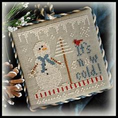 2012 Ornament 8 -It's Snow Cold - Cross Stitch Pattern