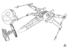 Extremely cool collection of Star Wars Geek Art from artist Sam Hallows. The thing that makes these 5 pieces of art so incredibly unique is the fact that while drawing them the artist never lifted his pen off the paper.