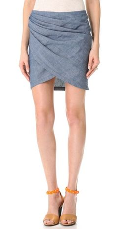 See by Chloe Chambray Miniskirt
