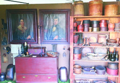 Days of the Pioneer Antique Show - booth of American Harvest. www.daysofthepioneer.com