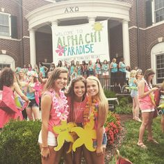 Alpha Chi Ohana bid day 2015! We love all of our beautiful new members #utk #axo #deltapi #bidday2015