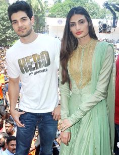 Sooraj Pancholi and Athiya Shetty at a dahi handi event in Thane. #Bollywood #Hero #Fashion #Style #Beauty #Handsome