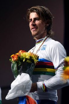 Peter Sagan (Slovakia) in the rainbow jersey Worlds 2015 (Tim de… Cycling News, Pro Cycling, Sports Personality, World Championship, Bicycles, Legends, Wheels, Racing, Passion
