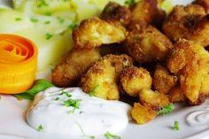 "Karfiol ""vyprážaný"" v rúre Tzatziki, New Recipes, Potato Salad, Potatoes, Vegetables, Ethnic Recipes, Potato, Vegetable Recipes, Veggies"