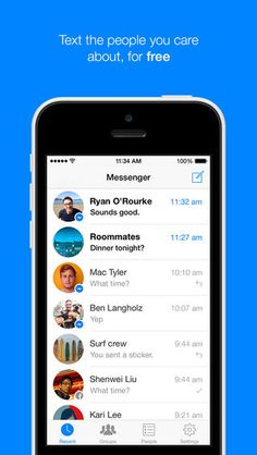 Top Free iPhone App #129: Messenger - Facebook, Inc. by Facebook, Inc. - 05/16/2014