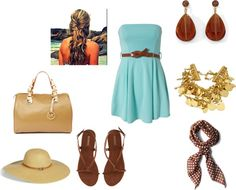 Soft Blue & Brown, created by vidah on Polyvore