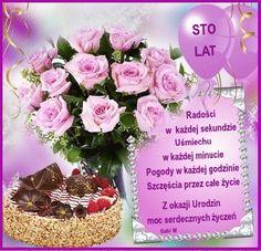 Z okazji Urodzin moc serdecznych życzeń...:) Happy Birthday Girlfriend, Happy Birthday Flower, Great Words, Birthday Quotes, Table Decorations, Flowers, Pictures, Postcards, Funny