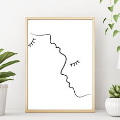 Lash Out Funny Eyelashes Print Makeup Art Print, Lashes Art, Beauty Print, Chic Bedroom Decor R White Wall Decor, Wall Art Decor, Wall Art Prints, Poster Prints, Black Decor, Black And White Artwork, Black And White Aesthetic, Black White, Woman Face Silhouette