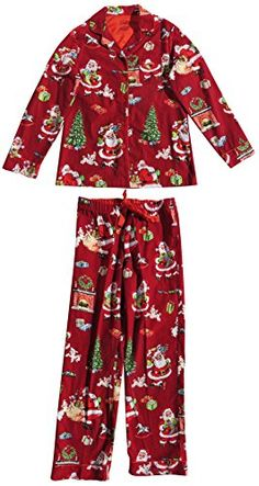 Nick & Nora Women's Christmas Sock Monkey Snow Globe Flannel ...
