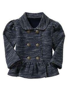 Peplum jacket for baby girl