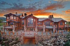 Deer Field, Deer Valley UT  ( 15,000 square feet, 10-car garage, expansive decks, heated driveway, 7 master suites, 11 bathrooms, 8   fireplaces, complete exercise room, billiards   room, wine room, state-of-the-art 14 seat   theater, ski prep room with fireplace, private   gondola to Deer Valley, 24 hour staffed main   gate and gated driveway) http://DeerFieldEstate.com/photo-gallery/