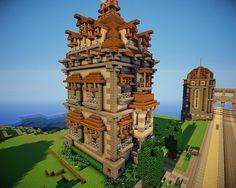 minecraft building ideas Victorian House in Maple Distrct Minecraft Project Minecraft Mansion, Minecraft Castle, Minecraft City, Minecraft Plans, Minecraft Construction, Amazing Minecraft, Minecraft Blueprints, Minecraft Designs, Minecraft Crafts