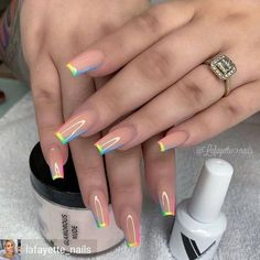 In summer I always like to wear a lot of color on my nails. Not only on my nails but my clothing too haha. So these super cool nails are perfect for upcoming spring and summer. They are colorful but… Cute Acrylic Nail Designs, Best Acrylic Nails, Beautiful Nail Designs, Fake Nail Designs, Painted Acrylic Nails, Turquoise Nail Designs, Nail Polish Designs, Art Designs, Aycrlic Nails