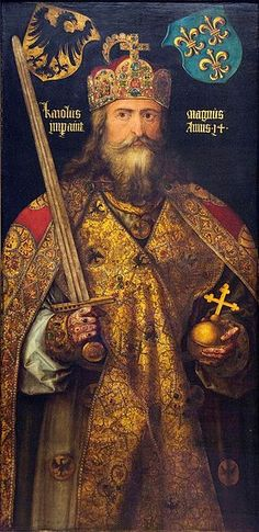Charlemagne: Was the king of the Franks, the Lombards, and emperor of the Romans, began as a worrior king seeking to conquer territory and distribute plunder in the Frankish tradition.