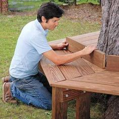 DIY Wrap Around Tree Bench - 10 Outdoor DIY Projects That Inspire Beauty and Relaxation