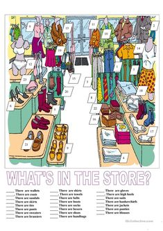 What's in the store? worksheet - Free ESL printable worksheets made by teachers