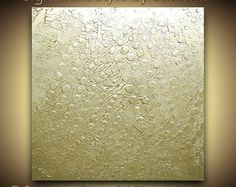 Original Champagne Gold Painting Acrylic Painting Abstract Painting Zen Art Modern Art Metallic Textured Canvas Art Palette Knife by Susanna Shap.