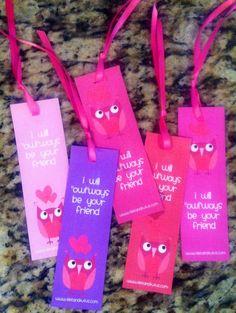 Free Valentine's day bookmarks printable