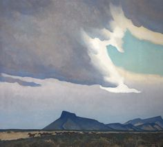 Maynard Dixon (1875-1946) - Oncoming Storm, 1941  Oil on canvas, 36 x 40 inches