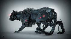 Panther by Mihail Lupu | Robotic/Cyborg | 3D | CGSociety
